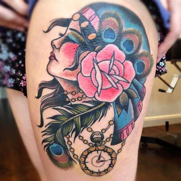 22 outstanding painted lady tattoo designs and ideas
