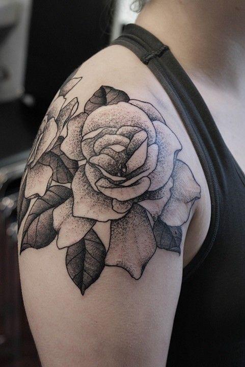 36+ Marvelous Rose Shoulder Tattoo Ideas