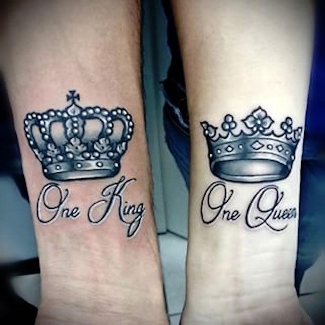 tatouages reine et roi pour les couples