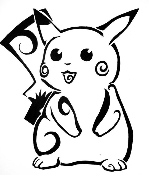 Dessins de tatouage Pokemon faciles