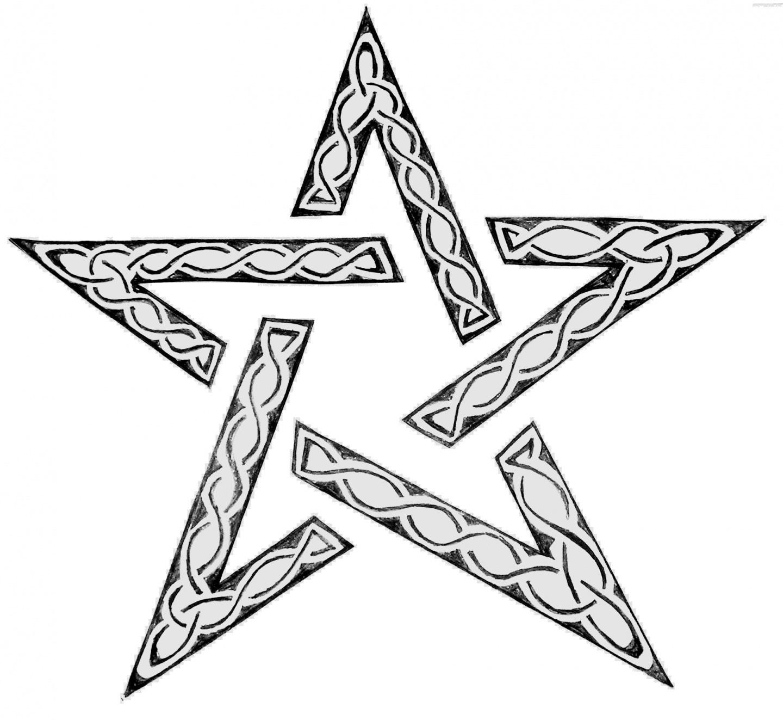 Tatouage étoile géométrique