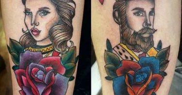 Rey y reina Tatuajes