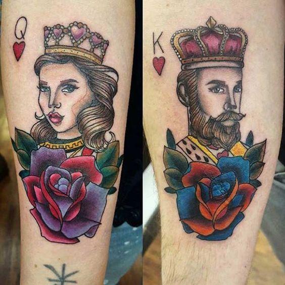 Roi et la Reine tatouages