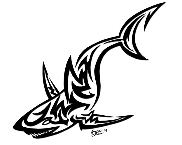 Dessins de tatouage de requin