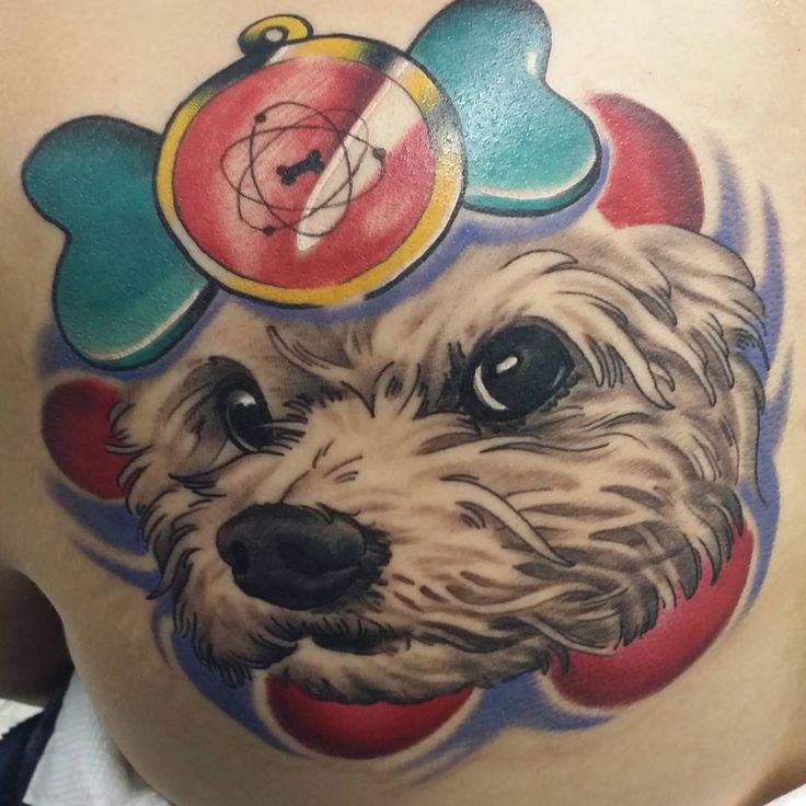 Tatouage de portrait de chien