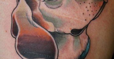 Hundeporträt Tattoo