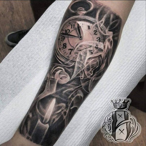 4184cf734 40+ Stunning Clock Tattoo Designs, Ideas For Your Good Time