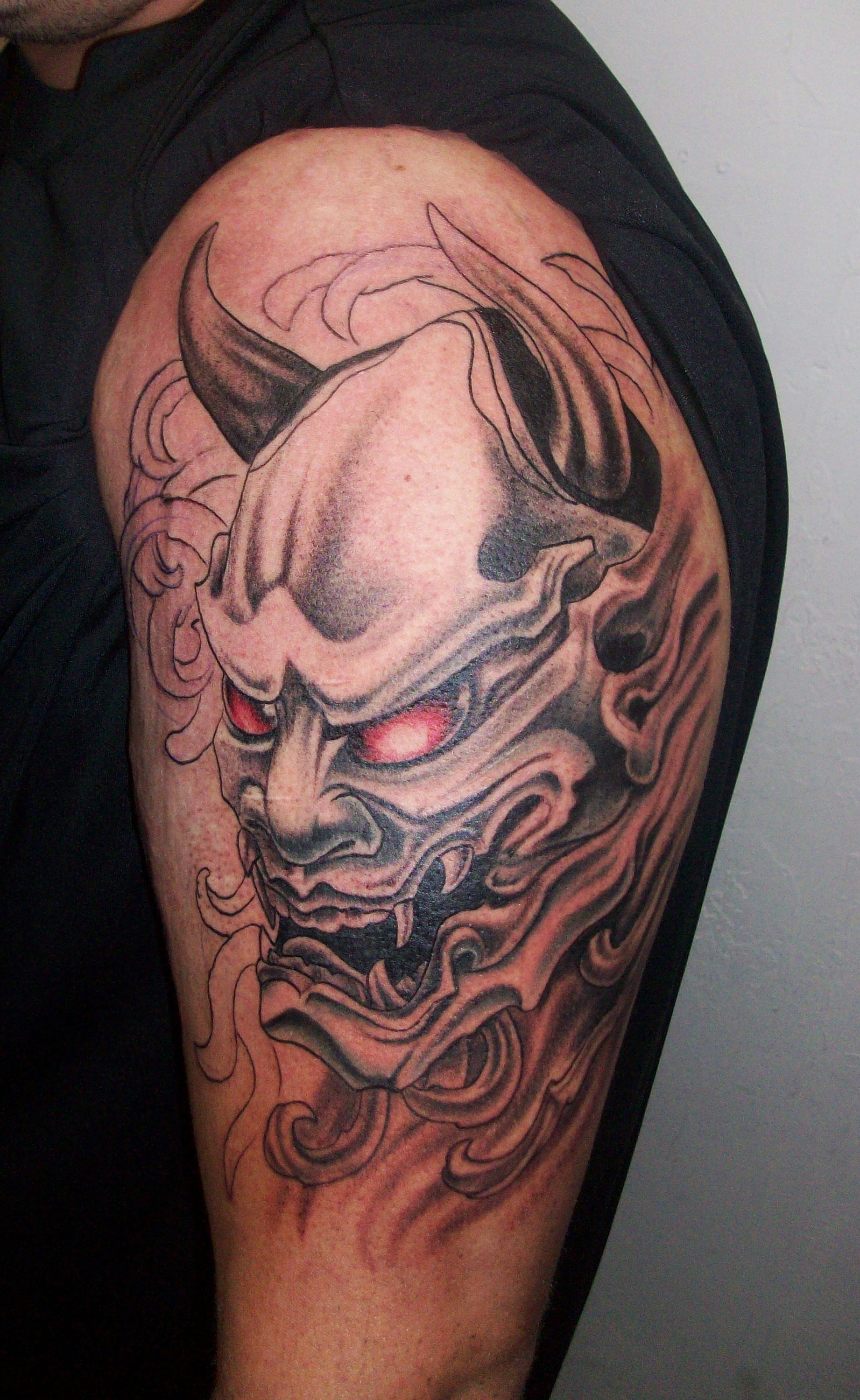 f909ad386 50+ Attractive Japanese Demon Tattoo Designs and Ideas