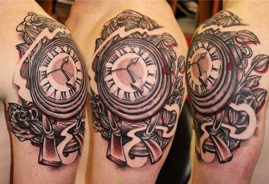 Clock Tattoo Designs