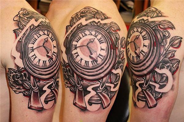 Horloge Tattoo Designs
