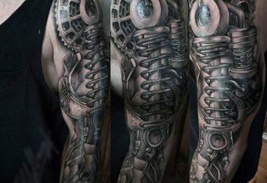 Mechanical Arm Tattoos