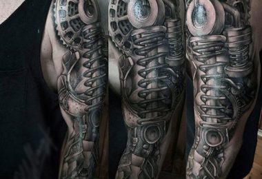 Mechanische Arm Tattoos