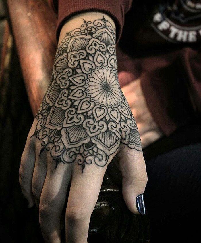 tattoo ontwerp voor de hand