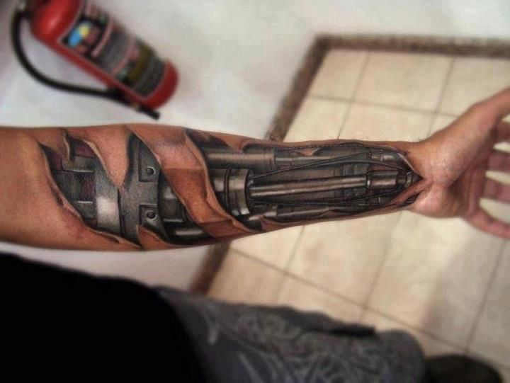 60 Glorious Mechanical Arm Tattoos Easy Design And Ideas