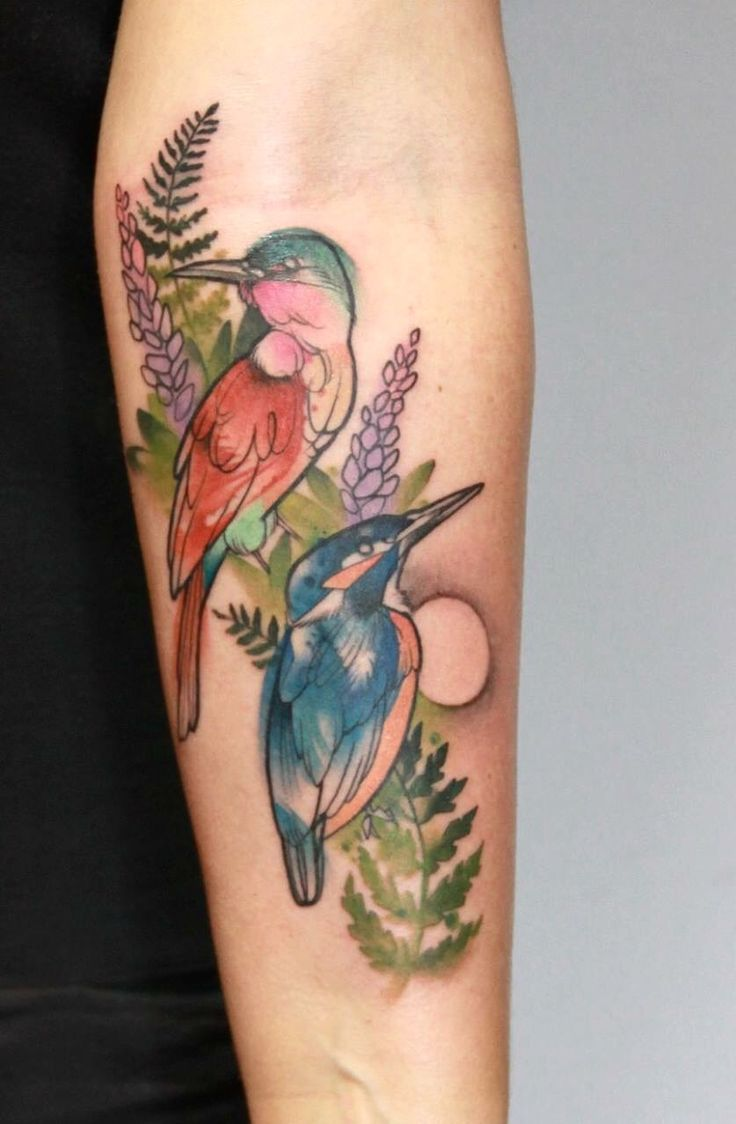 30+ Coolest Watercolor Bird Tattoo Designs and Ideas