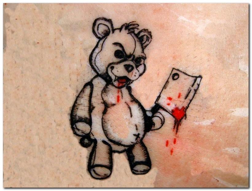 Tatouages ours en peluche
